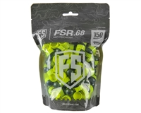 First Strike Paintball 150 Round Paintballs - FSR - Smoke/Yellow Shell - Yellow Fill