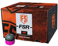 First Strike Paintball 600 Round Paintballs - FSR - Smoke/Pink Shell - Pink Fill