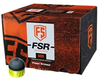 First Strike Paintball 600 Round Paintballs - FSR - Smoke/Yellow Shell - Yellow Fill