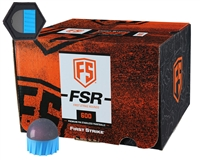 First Strike Paintball 600 Round Paintballs w/ Free Velcro Patch - FSR - Smoke/Blue Shell - Pink Fill
