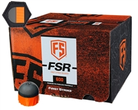 First Strike Paintball 600 Round Paintballs w/ Free Velcro Patch - FSR - Smoke/Orange Shell - Orange Fill