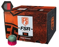 First Strike Paintball 600 Round Paintballs w/ Free Velcro Patch - FSR - Smoke/Fire Red Shell - Yellow Fill