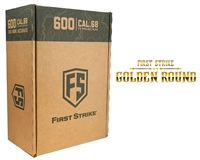 600 First Strike Paintballs - Smoke/Yellow Shell - Yellow Fill