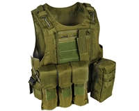 Warrior Molle Tactical Style Vest w/ Attachments